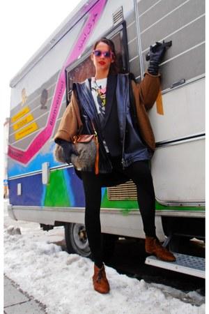 black oversize Mango blazer - Bimba&Lola shoes - Bimba&Lola coat