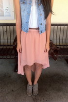 denim Forever 21 vest - coral chiffon Forever 21 skirt