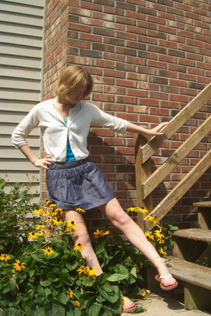 American Eagle sweater - delias top - Forever21 skirt - American Eagle