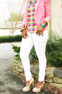 Multi-color-blouse-white-asos-jeans-bubble-gum-the-limited-blazer