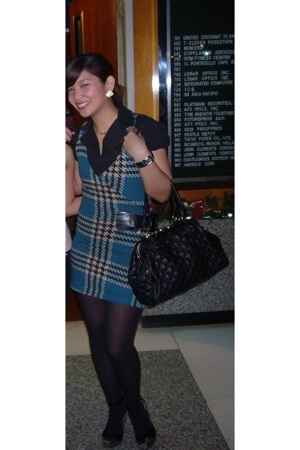 my mix dress - blouse - Kate Hill purse - People are People - DKNY - monet earri