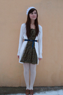 Brown-zara-shoes-white-tights-green-zara-dress-white-cardigan-blue-my-mo