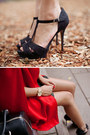 Black-marcs-bag-charcoal-gray-gary-pepper-vintage-dress-black-zara-heels