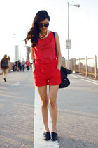 red H&M shorts - black See by Chloe bag - black Flint from Ruby sunglasses