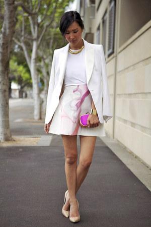 bubble gum Michael Lo Sordo skirt - ivory Michael Lo Sordo jacket