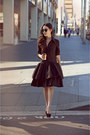Black-collette-dinnigan-dress-black-karen-walker-sunglasses