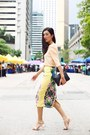 Peach-zara-heels-black-celine-bag-light-yellow-asos-skirt-peach-zara-top