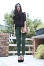 Teal-american-apparel-pants-navy-ellery-top-black-topshop-shoes