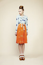 Sky-blue-charlotte-taylor-blouse-carrot-orange-skirt