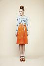 Sky-blue-charlotte-taylor-blouse-carrot-orange-skirt