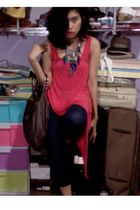 Topshop top - Zara bag - Forever 21 leggings - Topshop shoes - Forever 21 access