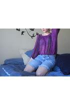 purple Target blouse - blue jeans