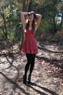 Brick-red-topshop-dress-black-forver21-accessories-black-jeffrey-campbell-sh