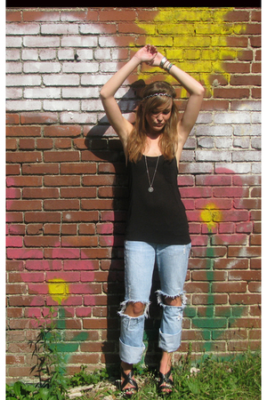 top - jeans - foreverr21 shoes - American Eagle necklace