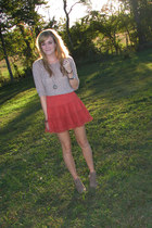 burnt orange tutu Urban Outfitters skirt - beige Old Navy boots