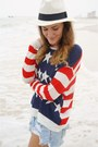 Off-white-masons-hat-navy-america-therapy-sweater