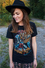 Black-thrifted-vintage-boots-black-h-m-hat-black-vintage-shirt