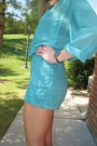 Aquamarine-houndstooth-american-apparel-shorts-aquamarine-american-apparel-top