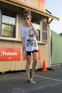 White-h-m-shirt-black-forever-21-shorts-black-converse-shoes-white-target-