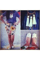 shoes - thrifted skirt - Ralph Lauren top