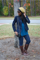 Forever 21 hat - Alice Temperley jacket - Forever 21 top - Seven For All Mankind