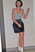 Topshop top - Grommet by Glitterati belt - Glitterati skirt - Matthews shoes