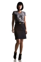 GreyOne shirt - SM skirt - Urban Bazaar belt - zoo shoes