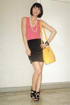 Miss Sixty top - Zara skirt - vintage purse - Anthem shoes