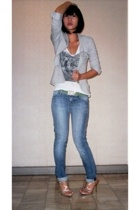 A-girls italia blazer - Topshop shirt - Italy belt - hudson by kate hudson jeans