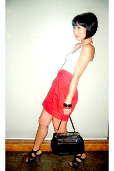 Topshop top - Lyca &amp; Lauren skirt - jean paul gaultier purse - Anthem shoes