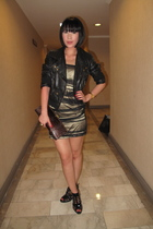 Tango jacket - Glitterati dress - Mango purse - zoo shoes