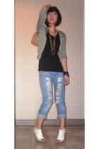 Topshop jacket - Topshop shirt - Hippie jeans - Chanel purse - Matthews shoes -