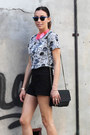 Black-zara-shorts-zara-shorts-hot-pink-h-m-necklace