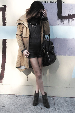rag &amp; bone boots - asos jacket - YSL bag - Nina Maya shorts - LUV Aj necklace - 