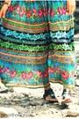 Skirt-bodysuit-suede-steve-madden-sandals