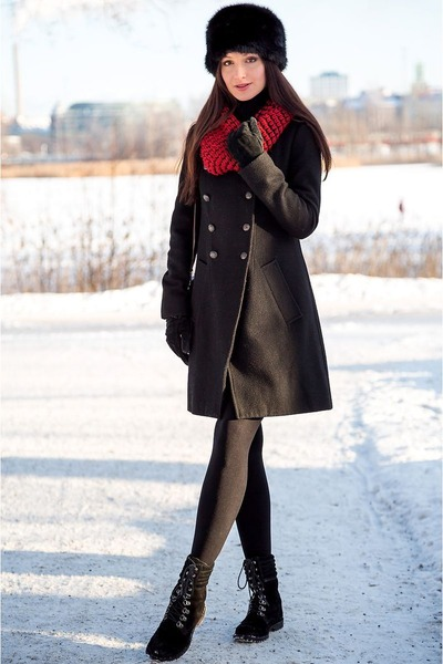 black asos hat - black military Religion coat