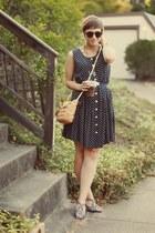 thrifted dress - Forever 21 purse - H&M sunglasses - aerosoles heels