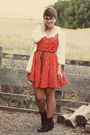 Ross-boots-h-m-dress-vintage-blouse