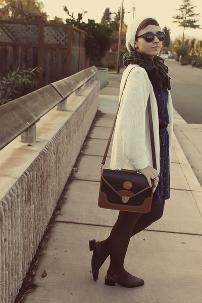 Forever 21 dress - vintage purse - Goodwill cardigan