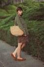 Thrifted-shoes-thrifted-dress-gap-jacket-vintage-bag