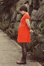 Thrifted-boots-urban-outfitters-dress-gap-jacket-etsy-bag
