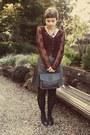 Vintage-blazer-goodwill-purse-thrifted-skirt