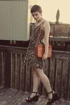 Target dress - thrifted purse - thrifted wedges