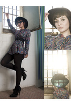 vintage hat - motherhood blouse - Bakers shoes