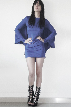 blue MISS MARS dress - black boots