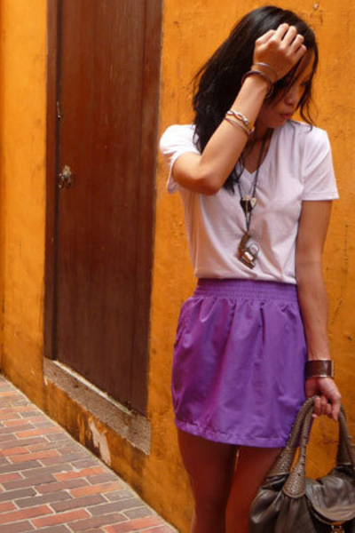 purple tulip skirt American Apparel skirt - gray Converse shoes