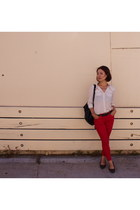 Oasis jeans - from Korea bag - from japan blouse - asos heels - vintage belt