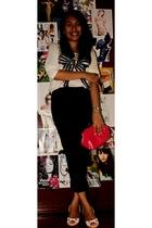 Mango blouse - Zara pants - Mango purse - Zara shoes