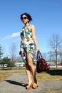 Green-poleci-dress-black-yves-saint-laurent-sunglasses-beige-miss-me-shoes-