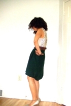 JCrew vest - thrifted belt - thirfted skirt - Cole Haan shoes - Aeropostale neck